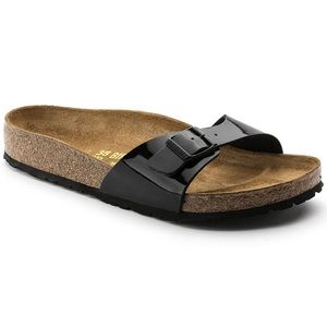 Birkenstock's Madrid Black Patent Sandal